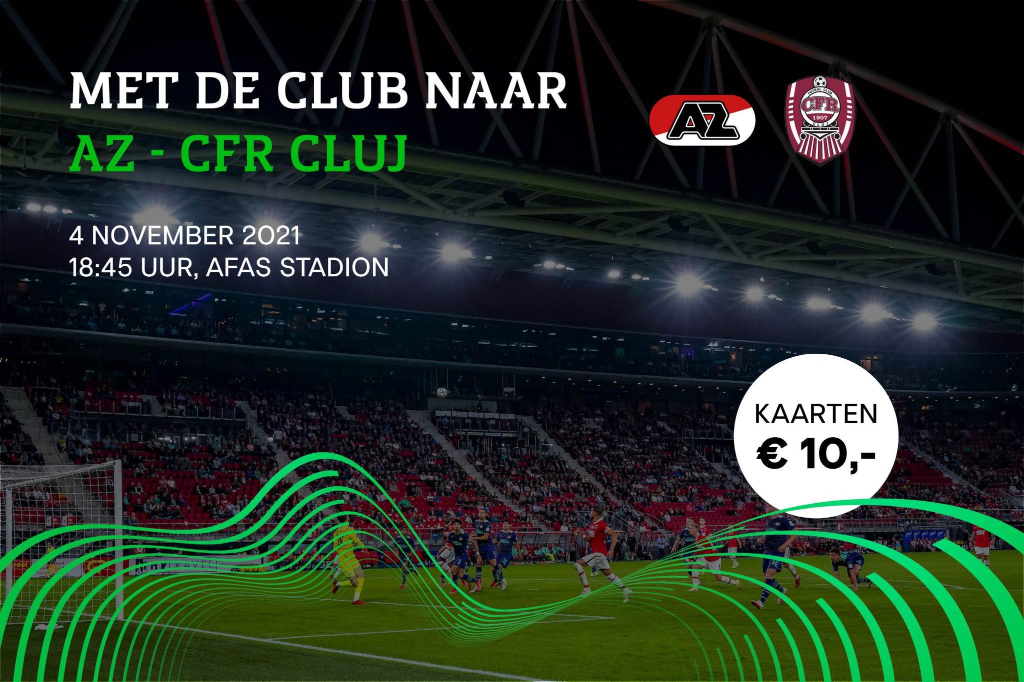 Ga mee naar AZ - CFR Cluj op 4 november